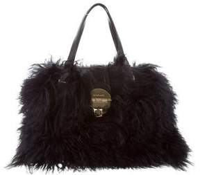 MICHAEL Michael Kors Fur Leather-Trimmed Bag