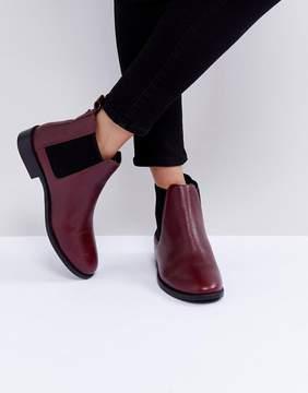 Faith Binkie Oxblood Leather Chelsea Boots