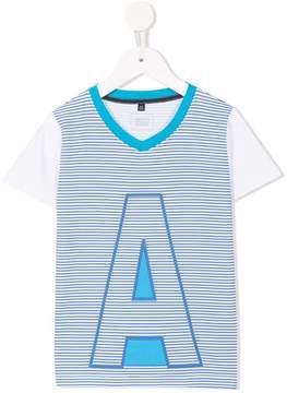 Emporio Armani Kids striped printed T-shirt