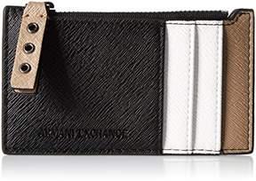 Armani Exchange A X Saffiano Card Holder Credit Card Holder
