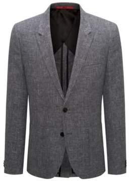 HUGO Boss Wool Linen Sport Coat, Extra Slim Fit Arti 34R Black