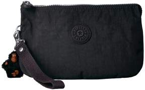 Kipling Creativity XL Printed Pouch Clutch Handbags - BLACK - STYLE