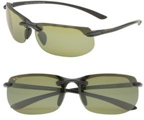 Maui Jim Men's 'Banyans - Polarizedplus2' 67Mm Sunglasses - Gloss Black / Ht Lens