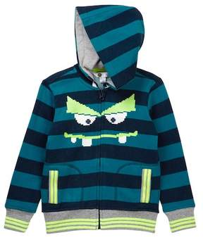 Petit Lem Monster Zip Hoodie (Toddler & Little Boys)