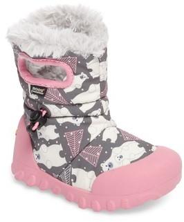 Bogs Girl's B-Moc Bears Waterproof Insulated Faux Fur Boot