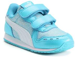 Puma Cabana Racer Glitter V Toddler Girls' Shoes