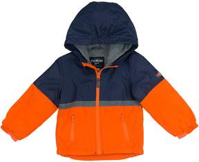 Osh Kosh Oshkosh Bgosh Baby Boy Fleece-Lined Color-Blocked Orange Transitional Lightweight Jacket