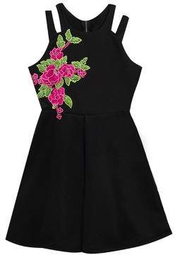 Rare Editions Girl's Floral Skater Dress