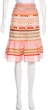 Blumarine Silk Ruffled Skirt