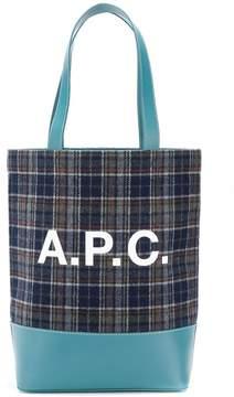 A.P.C. checked logo tote