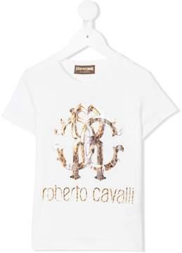 Roberto Cavalli leopard logo print T-shirt