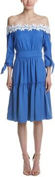 Adelyn Rae Off-The-Shoulder Midi Dress