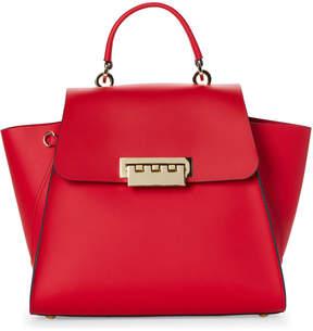 Zac Posen Red Eartha Top Handle Shoulder Bag