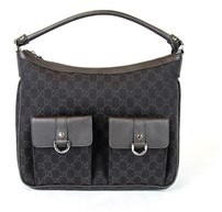 Gucci Brown Denim D-ring Abbey Hobo Handbag. - BROWN - STYLE