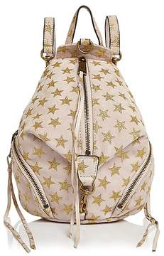 Rebecca Minkoff Julian Convertible Mini Suede Backpack - NUDE/GOLD - STYLE