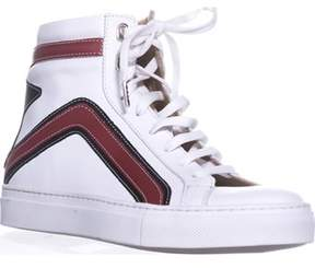 Belstaff Dillon High Top Fashion Sneakers, White.