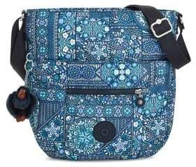 Kipling Bailey Printed Saddle Bag - BLUE - STYLE