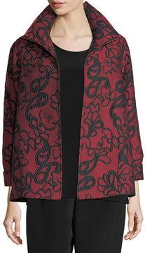 Caroline Rose Paisley Cloque A-line Jacket