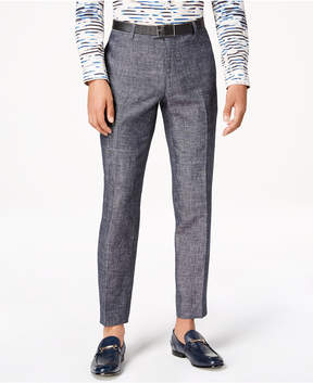 INC International Concepts I.n.c. Men's Slim-Fit Textured Linen Pants, Created for Macy's