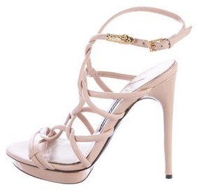Tom Ford Leather Caged Sandals