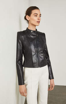 BCBGMAXAZRIA Misa Faux-Leather Moto Jacket