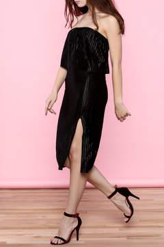 Everly Black Strapless Midi Dress