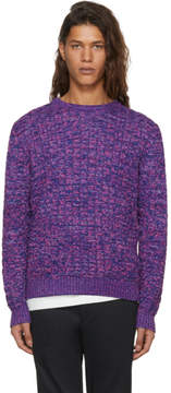 Missoni Purple and Blue Cable Knit Sweater