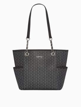 Calvin Klein monogram chainlink tote bag