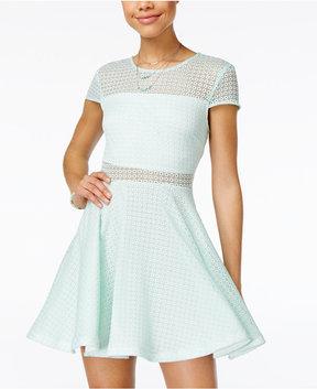 B. Darlin Juniors' Illusion Fit & Flare Dress