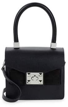 Mario Valentino Arlete Leather Top Handle Bag