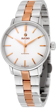 Rado Coupole Classic Automatic White Dial Two-tone Ladies Watch