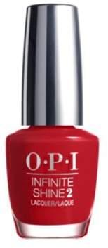 OPI Infinite Shine Nail Lacquer Nail Polish, Unequivocally Crimson.