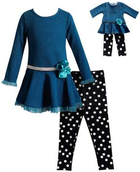 Dollie & Me Girls 4-14 Dress & Polka Dot Leggings Set