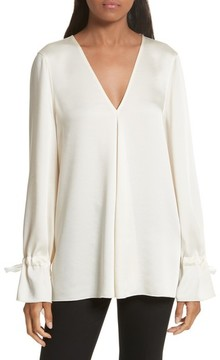 Elizabeth and James Women's Adalina Tie Cuff Blouse