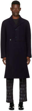 J.W.Anderson Navy Wool Cut-Out Coat