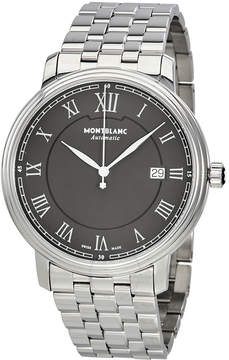 Montblanc Tradition Black Dial Automatic Men's Stainless Steel Watch