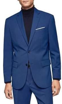 MANGO Patterned Suit Jacket