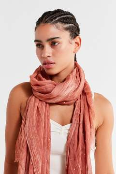 Urban Outfitters Lightweight Foil-Flecked Scarf