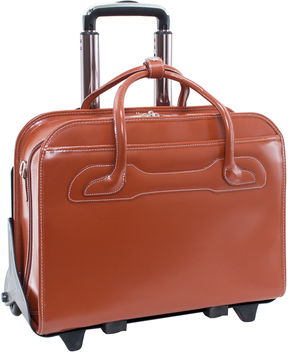 Mcklein McKleinUSA Willowbrook 15.6 Leather Detachable -Wheeled Laptop Briefcase