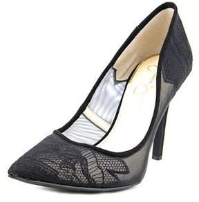 Jessica Simpson Camba Women Pointed Toe Synthetic Black Heels.