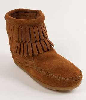 Minnetonka Double Fringe Suede Girls Boots