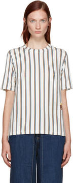Aalto White Striped T-Shirt