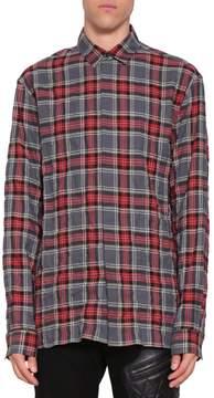 Haider Ackermann Wrinkled Cotton Check Shirt