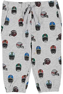 Stella McCartney Football-Helmet-Print Cotton Fleece Sweatpants