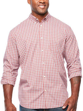Co THE FOUNDRY SUPPLY The Foundry Big & Tall Supply Long Sleeve Button-Front Shirt-Big and Tall