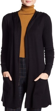 Cable & Gauge Hooded Open Front Cardigan