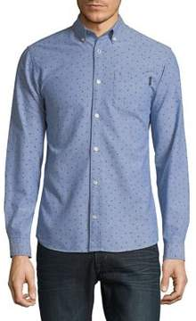 Jack and Jones Patterned Cotton Button-Down Shirt
