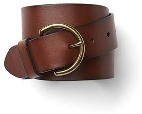 Gap Leather contour belt