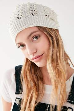 Urban Outfitters Pointelle Pearl Beanie