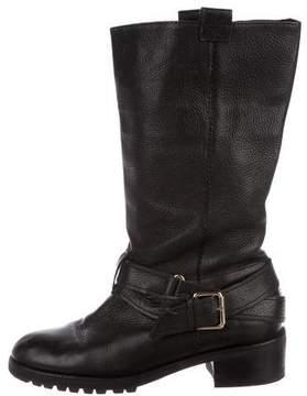 Diane von Furstenberg Leather Mid-Calf Boots